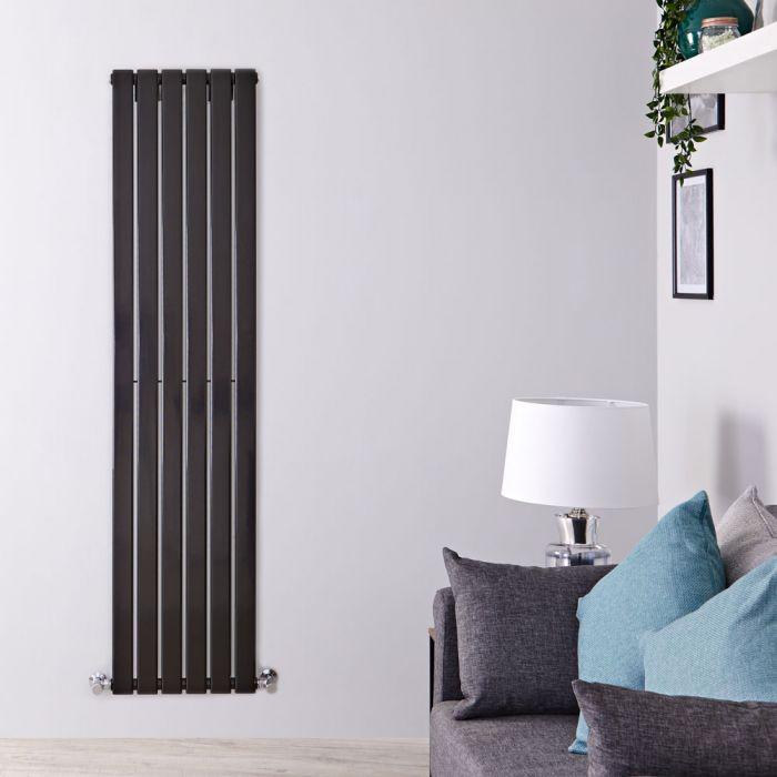 Radiateur Design Vertical Noir Delta 178cm x 42cm x 4,7cm 987 Watts