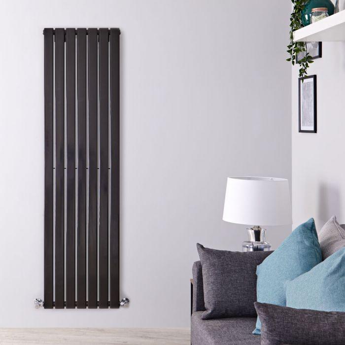 Radiateur Design Vertical Noir Delta 178cm x 49cm x 4,7cm 1152 Watts