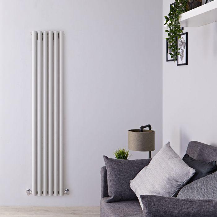 Radiateur Design Vertical Argent Savy 178cm x 35,4cm x 8.1cm 1043 Watts