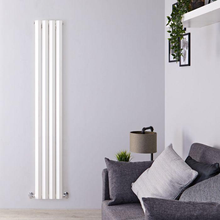 Radiateur Design Vertical Blanc Salisbury 178cm x 28cm x 6cm 700 Watts