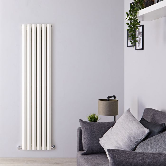 Radiateur Design Vertical Blanc Salisbury 178cm x 42cm x 8,6cm 1618 Watts