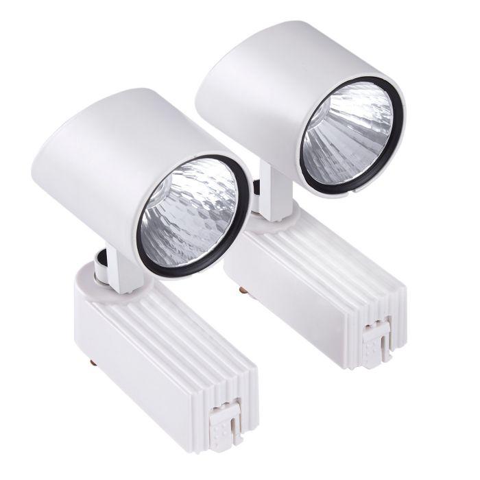 Biard Spot LED 7W pour rail Blanc - Pack de 2
