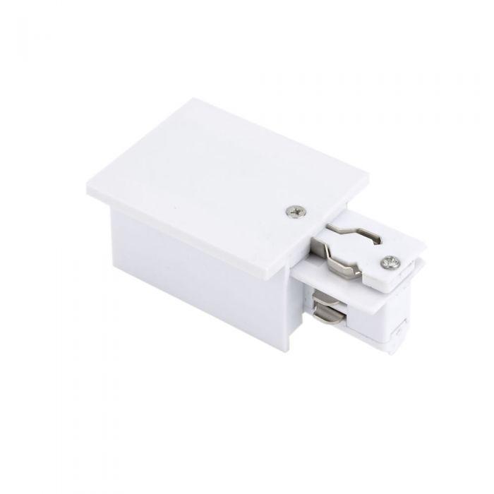 Connecteur triphasé encastrable droit Blanc