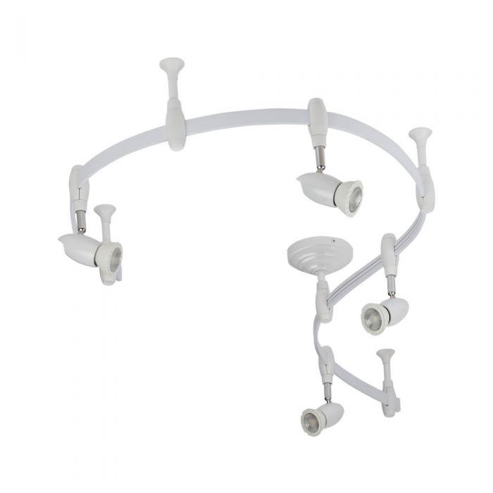 Biard Spot LED Pack de 4 & Rail flexible 2m Forio Blanc