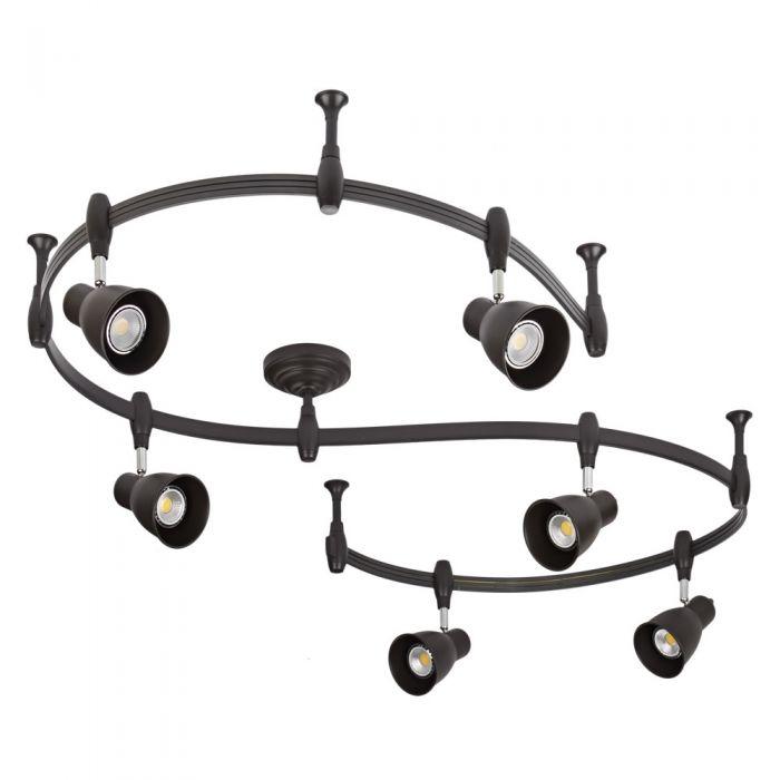 Biard Spot LED Pack de 6 & Rail Flexible 3m Panza Noir