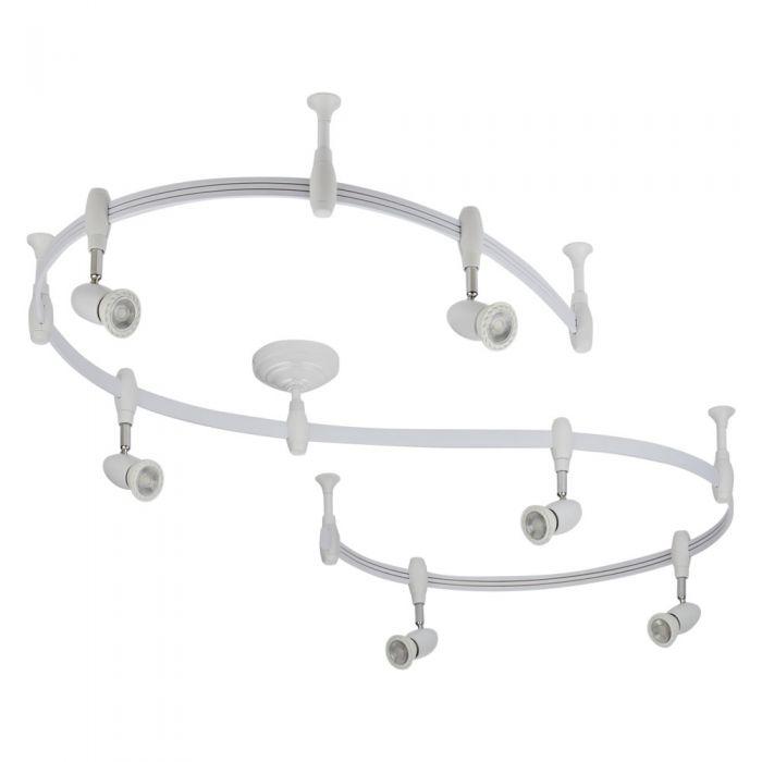 Biard Spot LED Pack de 6 & Rail flexible 3m Forio Blanc