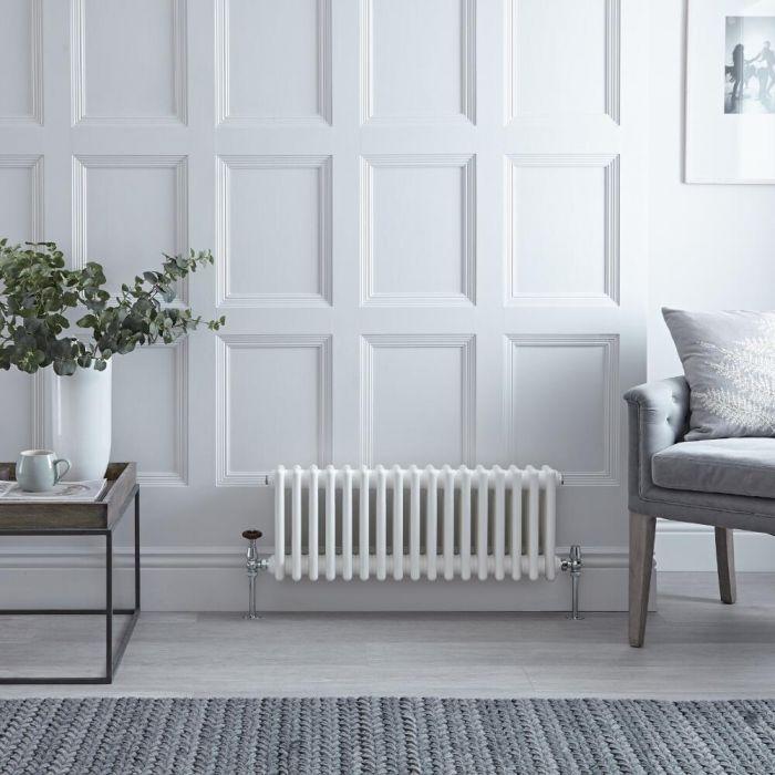 Radiateur Horizontal Style Fonte Blanc Windsor 30cm x 78,8cm x 10cm 687 Watts