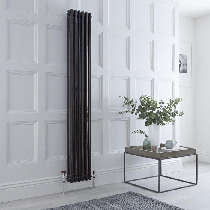 Radiateur Vertical Style Fonte Noir Windsor 180cm x 29,3cm x 10cm 1169 Watts
