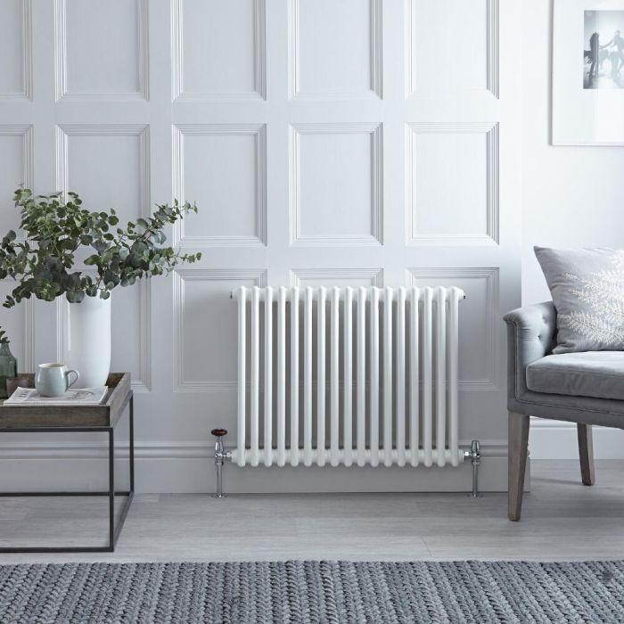 Radiateur Horizontal Style Fonte Blanc Windsor 60cm x 78,8cm x 6,8cm 965 Watts