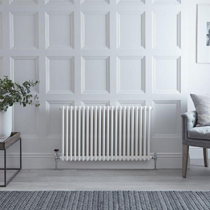 Radiateur Horizontal Style Fonte Blanc Windsor 60cm x 101cm x 6,8cm 1249 Watts