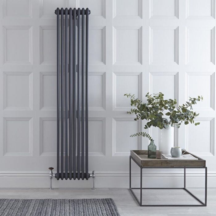 Radiateur Vertical Style Fonte Anthracite Windsor 180cm x 38cm x 10cm 1737 Watts