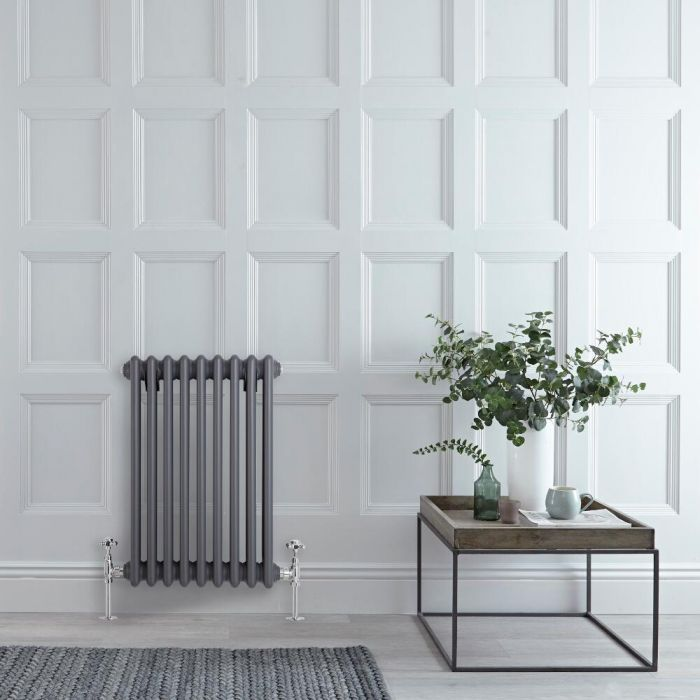 Radiateur Vertical Style Fonte Anthracite Windsor 60cm x 42.9cm x 10cm 658 Watts