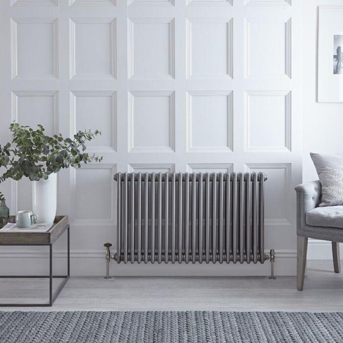 Radiateur Horizontal Style Fonte Acier Brut Windsor 60cm x 101.3cm x 10cm 1608 Watts