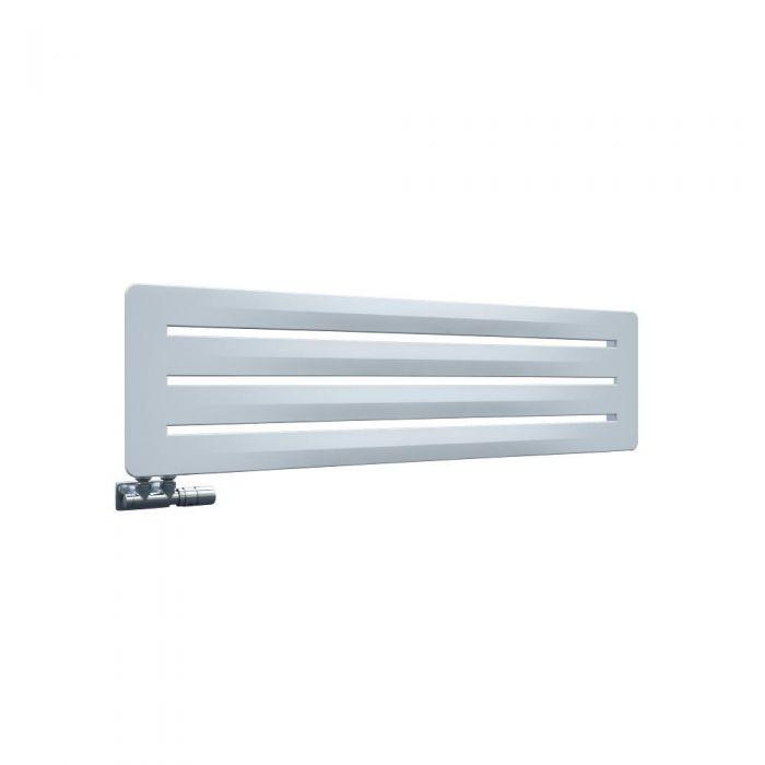 Leba - Radiateur Horizontal Design Blanc Leba 32.5cm x 120cm