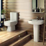 Ensemble lavabo sur colonne 52cm & WC Bliss
