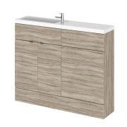 Meuble-lavabo wengé 110 x 86.4 x 25.5cm