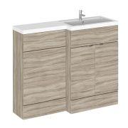 Meuble-lavabo wengé 110 x 86.4 x 35.5cm Version droite