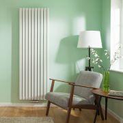 Radiateur Design Vertical Raccordement Central Blanc Vitality Caldae 178cm x 59cm x 7,8cm 2169 Watts