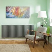 Radiateur Design Horizontal Raccordement Central Anthracite Vitality Caldae 63,5cm x 164,7cm x 7,8cm 2614 Watts