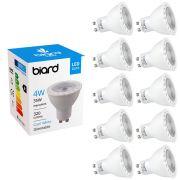 Biard Lot de 10 Ampoules spot LED 4W GU10 Dimmable