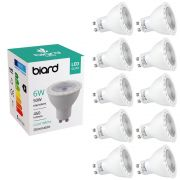 Biard Lot de 10 Ampoules spot LED 6W GU10