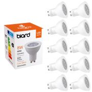 Biard Lot de 10 Ampoules spot LED Dimmables 8W GU10