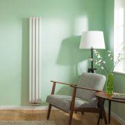 Radiateur Design Vertical Raccordement Central Blanc Vitality Caldae 160cm x 23,6cm x 7,8cm 858 Watts