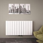 Radiateur Design Horizontal Raccordement Central Aluminium Blanc Aurora 60cm x 113,5cm x 4,6cm 1535 Watts