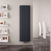 Radiateur Design Vertical Raccordement Central Aluminium Anthracite Aurora 160cm x 37,5cm x 4,5cm 1361 Watts