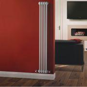 Radiateur Vertical Style Fonte Blanc Windsor 150cm x 20,3cm x 6,8cm 548 Watts
