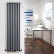 Radiateur Design Vertical Anthracite Vitality 178cm x 47,2cm x 5,6cm 1190 Watts