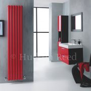 Radiateur Design Vertical Rouge Vitality 180cm x 35,5cm x 7,9cm 1632 Watts