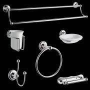 Ensemble d'accessoires de salle de bain Rétro
