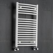 Hudson Reed Sèche-Serviettes Incurvé Blanc Etna 80cm x 50cm x 5.6cm 466 Watts
