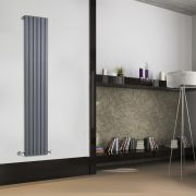 Radiateur Design Vertical Anthracite Sloane 178cm x 35,4cm x 5,3cm 897 Watts