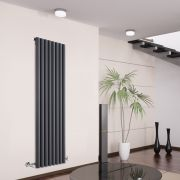 Radiateur Design Vertical Anthracite Savy 160cm x 47,2cm x 8cm 1278 Watts