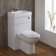 Lave Main WC Blanc Géométrique