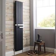 Radiateur Design Vertical Noir Ceylon 180cm x 37cm x 10,5cm 1264 Watts