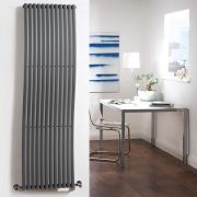 Radiateur Design Vertical Anthracite Palero 160cm x 46cm x 9cm 1185 Watts