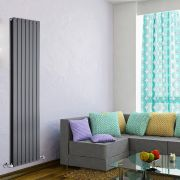 Radiateur Design Vertical Anthracite Delta 178cm x 49cm x 6cm 1732 Watts