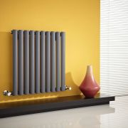 Radiateur Design Horizontal Anthracite Vitality 63,5cm x 59,5cm x 5,5cm 597 Watts