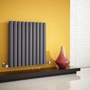Radiateur Design Horizontal Anthracite Vitality 63,5cm x 59,5cm x 7,8cm 932 Watts