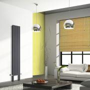 Radiateur Design Vertical avec Pieds de Support Anthracite Vitality Plus 200cm x 35,4cm x 7,8cm 1401 Watts
