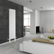Radiateur Design Vertical avec Pieds de Support Blanc Vitality Plus 200cm x 47,2cm x 7,8cm 1868 Watts
