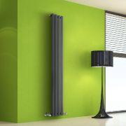 Radiateur Design Vertical Anthracite Salisbury 160cm x 28cm x 6cm 630 Watts