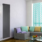 Radiateur Design Vertical Noir Delta 178cm x 56cm x 4,7cm 1316 Watts