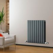 Radiateur Design Horizontal Anthracite Delta 63,5cm x 63cm x 5,8cm 860 Watts