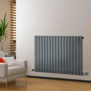 Radiateur Design Horizontal Anthracite Delta 63,5cm x 119cm x 4,6cm 1064 Watts