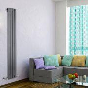 Radiateur Design Vertical Anthracite Delta 160cm x 28cm x 4,7cm 586 Watts