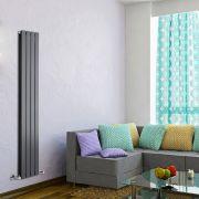 Radiateur Design Vertical Anthracite Delta 160cm x 28cm x 6cm 882 Watts